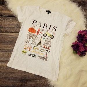 J. Crew White Paris T Shirt Size Small